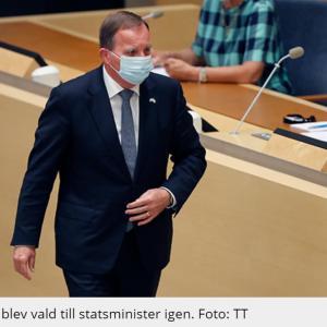 スウェーデン首相に返り咲き