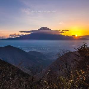 富士の朝日