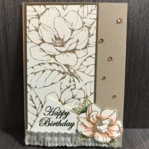 マグノリアの誕生日カード