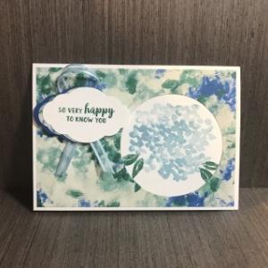 紫陽花のお礼カード