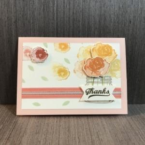 またまたお花いっぱいのカード No.10