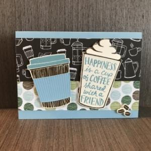 ほっと一息、コーヒーのカード