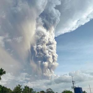 【重要】フィリピン首都近郊の火山で噴煙について