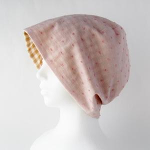 新作! オーガニックコットンのガーゼ帽子