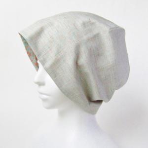 新作! 花柄がかわいいガーゼの帽子