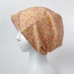 新作! 花柄とピンクがかわいい ガーゼの帽子