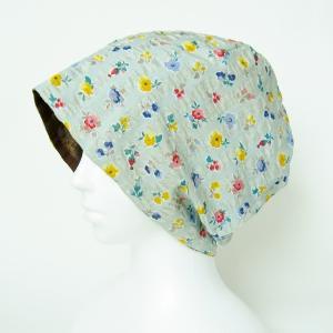 新作! かわいい花柄 高級生地 涼しいガーゼ帽子