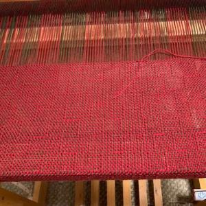 シャドウ織、後半は、赤で。