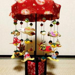 秋の傘飾り