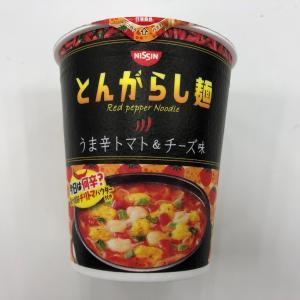 辛さは低レベルですが旨さは高レベルでしたよ~ 日清のとんがらし麺 うま辛トマト&チーズ味!!