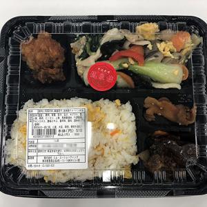 ご飯がイマイチな弁当でしたね~ 豚肉と青菜炒め、麻婆茄子、油淋鶏チャーハン弁当!
