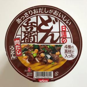 こちらはしっかりした味付けでしたね~ 日清のあっさりおだしがおいしいどん兵衛 肉だしうどん!