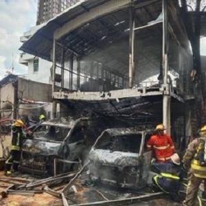 タイの日系幼稚園が火事