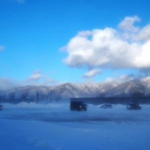 モカべこ探して三千里「赤べこ公園で雪にまみれる」
