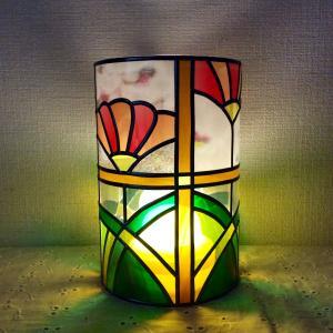 円柱のランプシェード