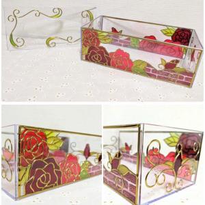 薔薇のティッシュボックス