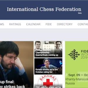 FIDEのホームページがすごく変わった!!