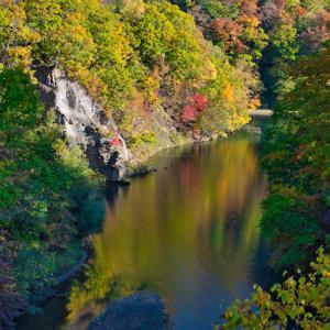 定山渓は秋色