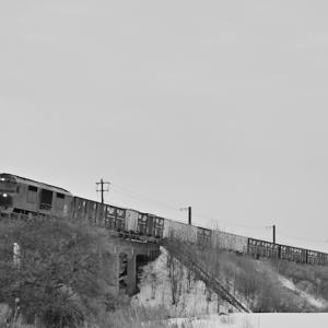 貨物列車が長いのです