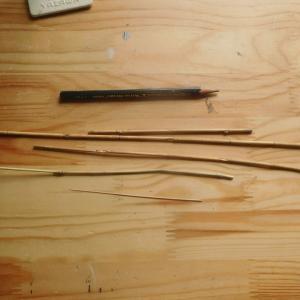 2尺のタナゴ竹竿作り