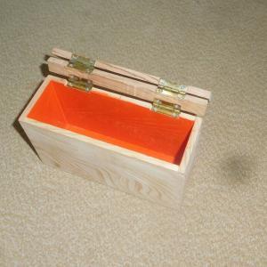 浮造り仕上げの小箱作り