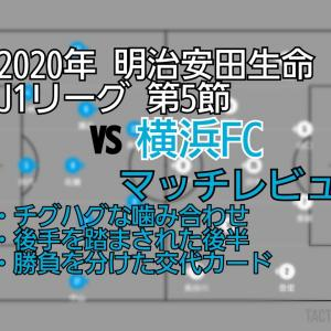 2020年 明治安田生命J1リーグ 第5節 VS横浜FC マッチレビュー〜もう一度ギアを〜