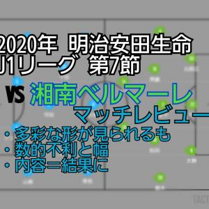 2020年 明治安田生命J1リーグ 第7節 VS湘南ベルマーレ マッチレビュー~東の雄~