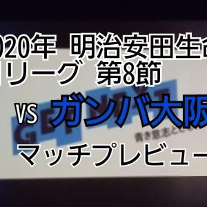 2020年 明治安田生命J1リーグ 第8節 VSガンバ大阪 マッチプレビュー
