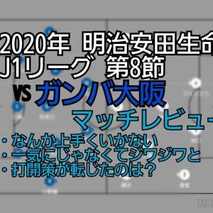 2020年 明治安田生命J1リーグ 第8節 VSガンバ大阪 マッチレビュー~理不尽な一振り~
