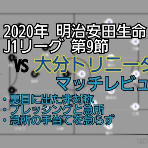 2020年 明治安田生命J1リーグ 第9節 VS大分トリニータ マッチレビュー~恐れず自信に~