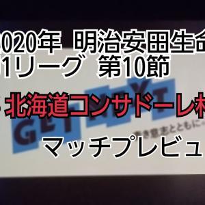 2020年 明治安田生命J1リーグ 第10節 VS北海道コンサドーレ札幌 マッチプレビュー