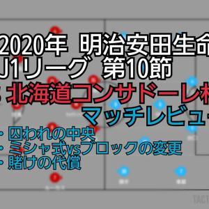 2020年 明治安田生命J1リーグ 第10節 VS北海道コンサドーレ札幌 マッチレビュー~賭け事は慎重に~