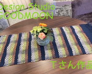 手織り教室生徒さん作品:ななこ織りのマット
