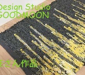 手織り教室生徒さん作品:引き返し織りのマット