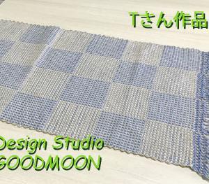ゆさあきこの手織り教室生徒さん作品:ブロックに見える網代