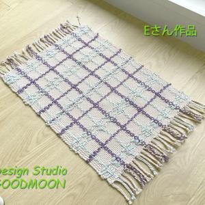 手織り教室生徒さん作品:糸飛ばしのマット