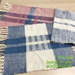 手織り教室生徒さん作品:綾織り応用のマット