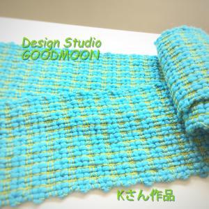 ゆさあきこの手織り教室生徒さん作品:太細マフラー