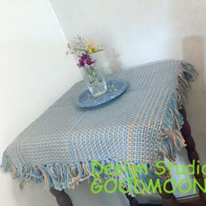 「手織り布のある生活」:手織り布の網代マット