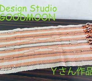 手織り教室生徒さん作品:スイッチ織りのマット