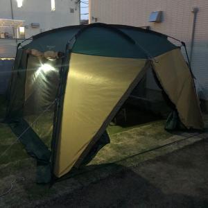 お庭でキャンプ