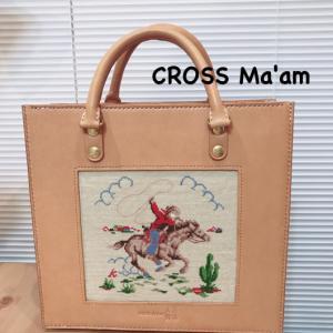 アトリエの刺繍バッグ