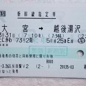 2階建て新幹線『E4系MAX』に乗車時に使用した指定券(2)