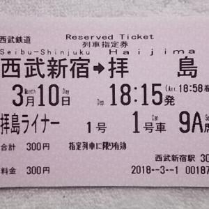 平成30年2018_0310_拝島ライナー1番列車の撮影・乗車記録