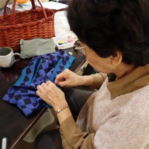 エコクラフト & 裁縫 ~ 被せ布付き手提げ籠 ~