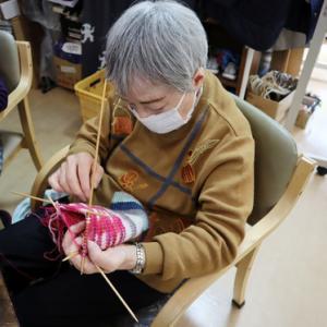 編みもの ~ ボーダー柄の靴下➁ ~
