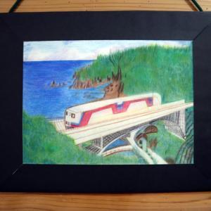 色鉛筆画 ~ 三陸鉄道リアス線 ~