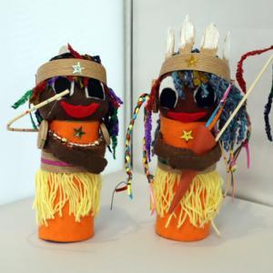 ロール芯人形 ~ インディアン ~