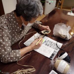 編みもの ~ エコアンダリアのモチーフバッグ
