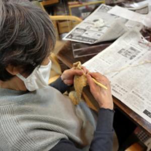 編みもの ~ エコアンダリアのポシェット